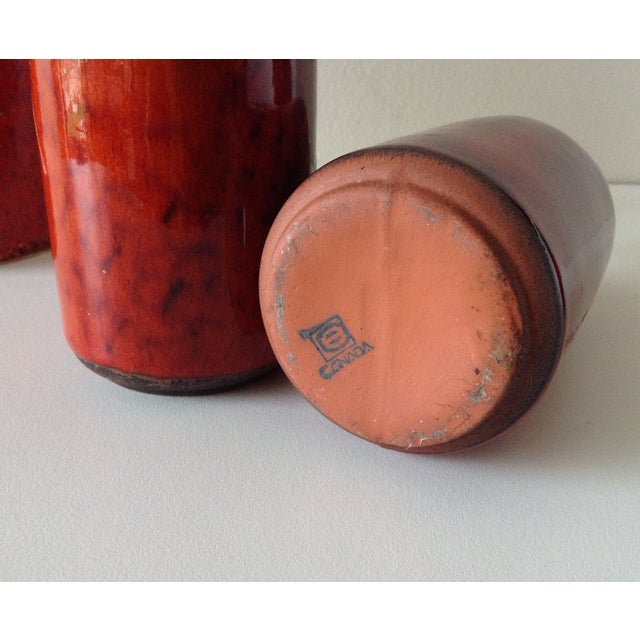 Terracotta Red Glazed Containers - Set of 4 - Image 10 of 10