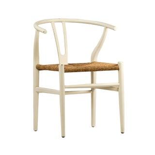 White Woven Oak Chair