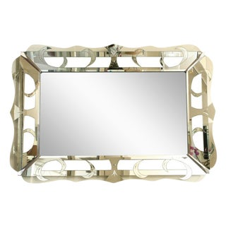 Exceptional Etched Hollywood Regency Mirror
