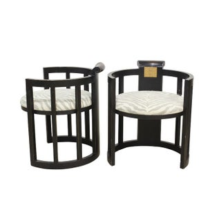 Asian Style Barrel Chairs - A Pair