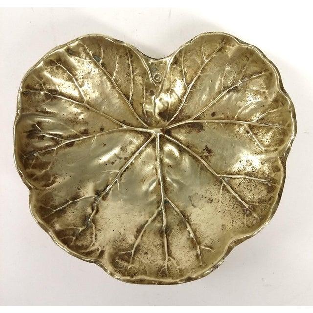 Vintage Geranium 1948 Solid Brass Trinket Dish - Image 2 of 9