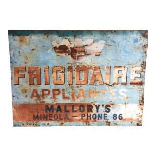 Vintage Frigidaire Advertisement Trade Sign