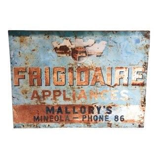 Vintage Frigidaire Advertisement Trade Sign