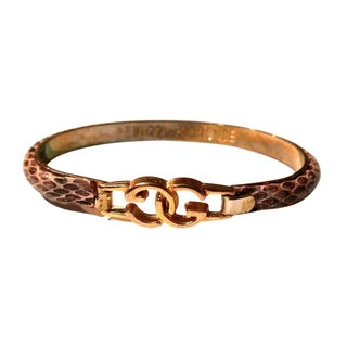 Beige Gucci Python Bangle
