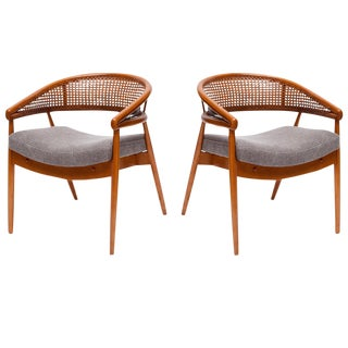 "Pair of James Mont ""King Cole"" Chairs"