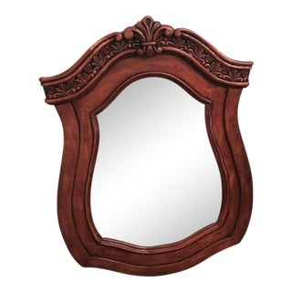 Carved Wood Console Mirror