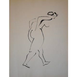 Mid-Century Nude Drawing by John Begg