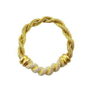Givenchy Pavé Twisted Cloth Necklace