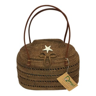 Carved Exotic Balinese Handbag