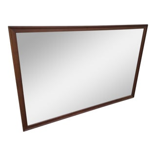 Kipp Stewart Drexel Declaration Walnut Frame Hanging Mirror
