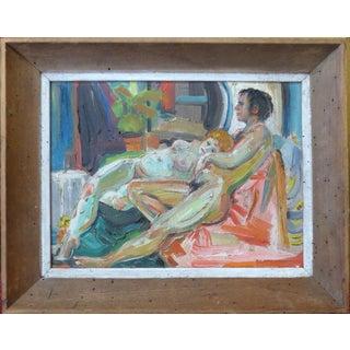 Mid-Century Nudes Oil Painting - Robert Blanchard
