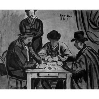 Card Players Painting by Geneva Flores Hart Fell