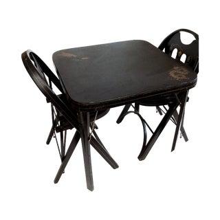 Art Deco Wood Dining Set
