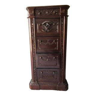 Solid Mahogany Resolute Presidential Cabinet or Filing Cabinet