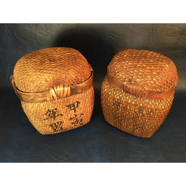 Japanese Covered Baskets - A Pair - Image 3 of 10