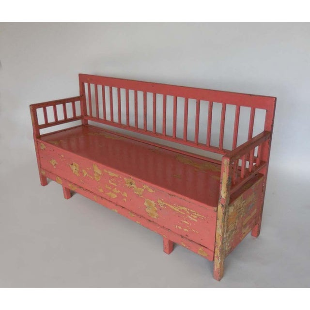 19th Century Painted Swedish Bench/Daybed - Image 3 of 9