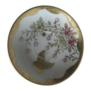 Gilt Butterfly Saucers - Set of 4
