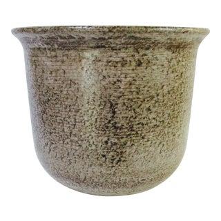 Gainey Glazed Brown Textured Ceramic Planter Pot
