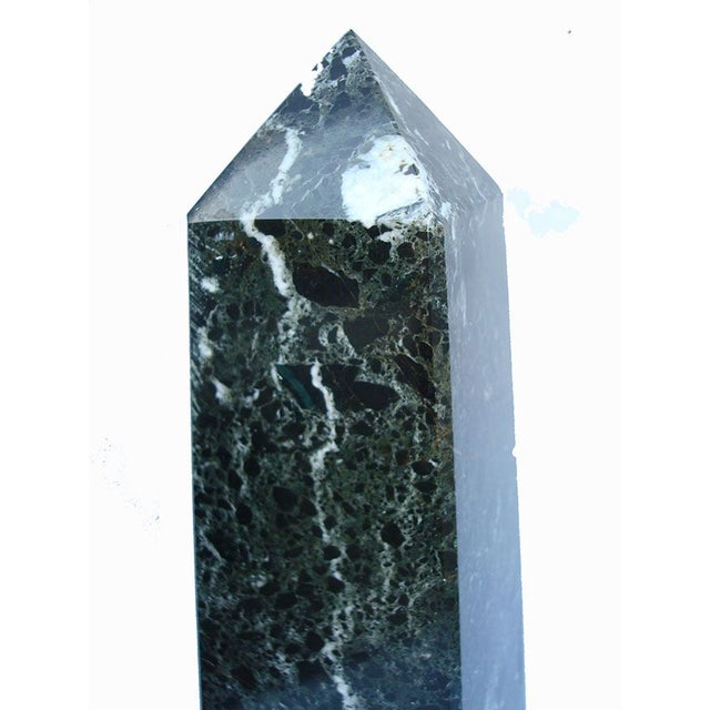"Image of 14"" Tall Black Marble Obelisk"