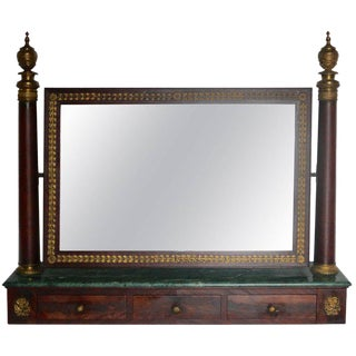 19th Century Gilded French Empire Mirror