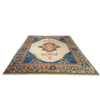 10′ × 14′ Traditional Oushak Handmade Knotted Rug - Size Cat. 10x14