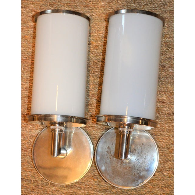 Visual Comfort Studio Cylinder Sconces - a Pair - Image 6 of 10
