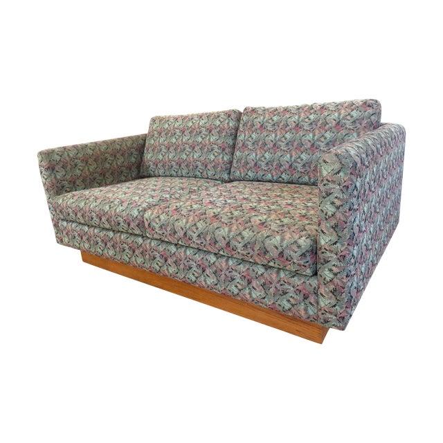 Mid-Century Milo Baughman Style Loveseat Sofa - Image 1 of 8