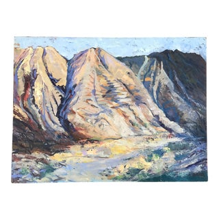 Signed Mountain Landscape Oil on Canvas