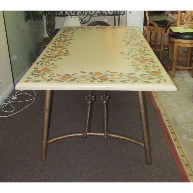 Ironies Stone Dining Table With Inlay Fruit Design Chairish