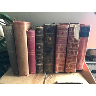Antique Various Books Collection - Set of 8