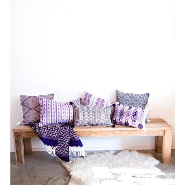Lilac Purple Ikat Guatemalan Pillow - Image 5 of 7