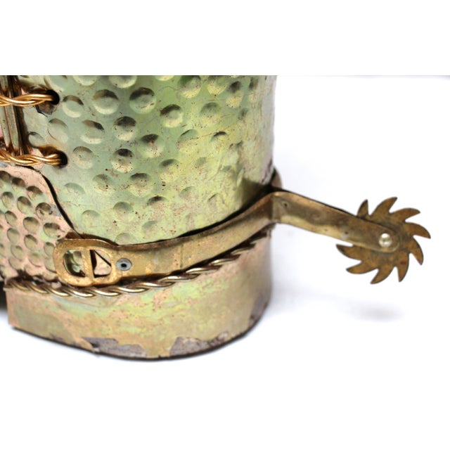 Brass Cowboy Boot Umbrella Stand - Image 8 of 8