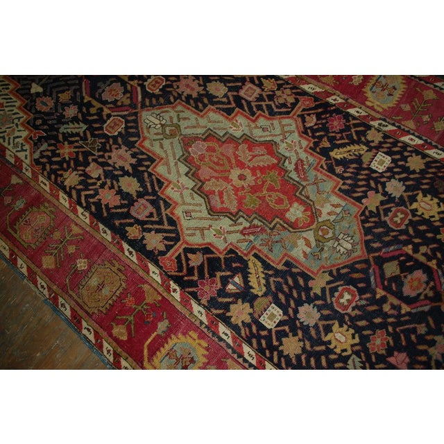 1880s Antique Hand Made Caucasian Karabagh Rug- 4′6″ × 11′7″ - Image 6 of 10