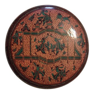 Middle EasternLacquered Paper Mache Lidded Box