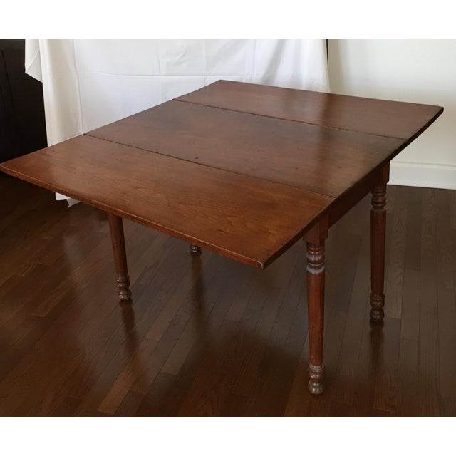 Antique Black Walnut Drop Leaf Dining Table Chairish
