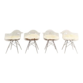 Mid-Century Style Lucite Chairs - Set of 4