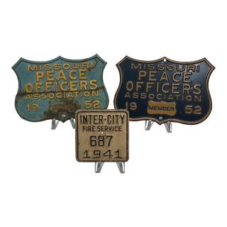 Fire and Police Vintage Plates - Set of 3