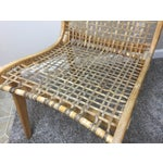 Image of Tubbs Oak & Rawhide Side Chairs - A Pair
