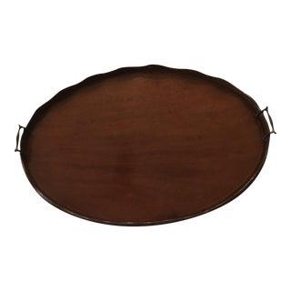 Vintage Oval Mahogany Tray