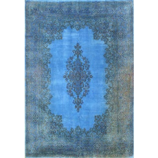 "Over-Dyed Blue Persian Rug - 8'5"" X 12'2"""