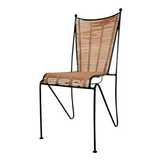 Ficks & Reed Mid-Century Organic Modern Bamboo & Wrought Iron Chair