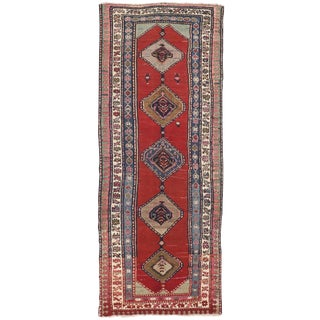 "Antique Hand Knotted Caucasian Runner - 3'11""x 9'10"""