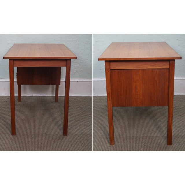 Image of Tibergaard Vintage Danish Modern Teak Writing Desk
