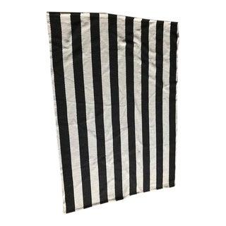 Striped Black & White Rug - 4′ × 6′