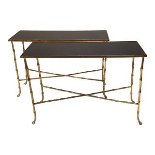 Pair Of Bamboo Tables