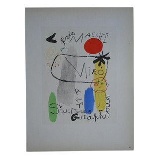 Miro Mid 20th C. Modern Lithograph-Mourlot-Paris