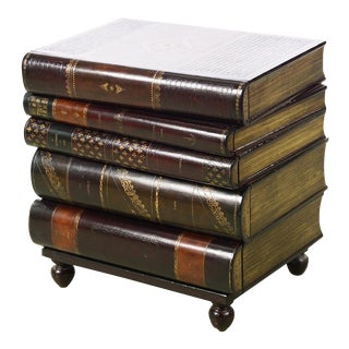 Maitland Smith Stacked Leather Books End Table