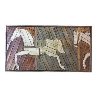 Rustic Theodore Degroot Lathe Wood Horse