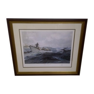 John Stobart Signed Nantucket Sleigh Ride Print