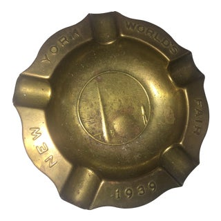 Original 1939 World's Fair Brass Art Deco Ashtray